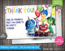 inside out thank you card instant download printable
