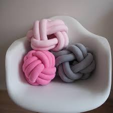 knot pillows knot pillow pink knotted pillow knot cushion chunky pillow sofa