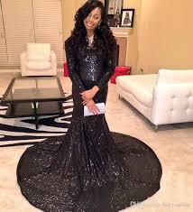 2016 black girls dress cheap long evening dresses sequins beads