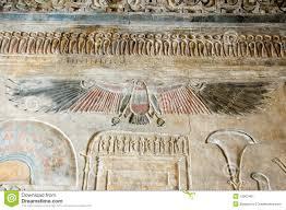 ancient egyptian vulture goddess nekhbet royalty free stock
