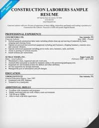 Resume Templates For Construction Workers Ideas Of Sample Resume Construction Worker On Free Download