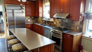 stainless steel countertop with built in sink kitchen winning stainless steel table legs australia countertop