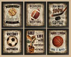 printable sports quotes boy room sports decor set of 4 motivating sports quotes printable