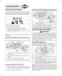 adjustments throttle adjustment warning briggs u0026 stratton