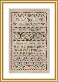 wedding anniversary sler cross stitch kit