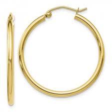 hinged hoop earrings 10le113 leslies 10k polished hinged hoop earrings francis jewelers