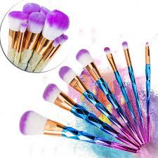 aliexpress buy new arrival 10pcs silver gold aliexpress buy unicorn makeup brushes 10 pcs professional