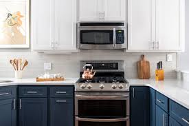 what color appliances with blue cabinets kitchen cabinet colors