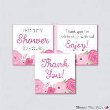 flower baby shower printable favor tag spring baby shower