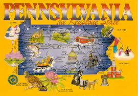Show Me A Map Of Pennsylvania by Pennsylvania Show Me Your World In A Postcard