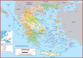 greece map political greece maps academia maps
