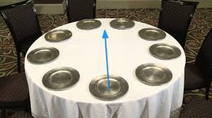 Proper Table Setting by Setting Banquet Tables Youtube
