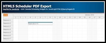 javascript tutorial pdf tutorial html5 scheduler pdf export javascript daypilot news