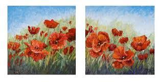 niki gulley poppy oil painting