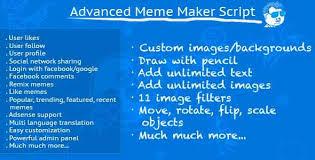 Meme Maker Free - nulled advanced meme maker v2 18 php script free download