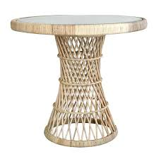 wicker side table with glass top rattan side table side table rattan side table urban outfitters