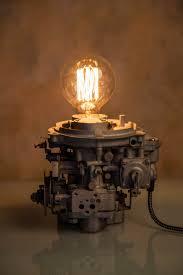 carburetor lamp industrial lamp vintage lamp steampunk