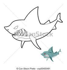 eps vectors shark coloring book angryl underwater animal