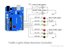4 way traffic light using arduino arduino wiring diagram uno schematic electrical switch lighting
