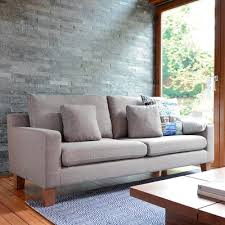 ankara three seater sofa light grey dwell