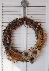 grapevine wreath 12 diy projects for fall themed wreaths 7 floral grapevine wreath
