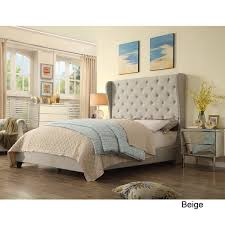 moser bay furniture ophelia wingback upholstered bed queen size