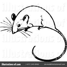 mouse clipart vintage pencil and in color mouse clipart vintage