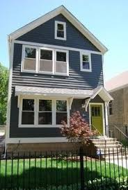 painting exterior brick chimney charcoal bricks and color schemes