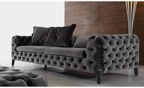 wood frame fabric living room sofa set 2 seater black modern