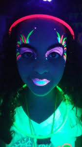 glow paint uv paint paint glow in the tween party party ideas