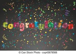 congratulation banner congratulation banner with confetti an ribbons vector clip