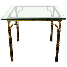 labarge gold leaf metal card table from the 1950 u0027s nyshowplace