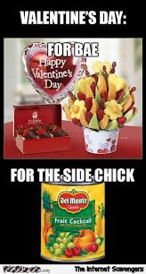 Side Chick Meme - valentine s day for bae versus the side chick meme pmslweb