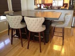 high kitchen table breakfast room with bar height table white