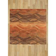 Orange And Brown Area Rugs Brown Area Rugs Loved 118 Times 118 Loved Alliyah Abstract