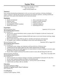 Retail Merchandiser Resume Sample by Best Merchandising Representative Resume Example Livecareer