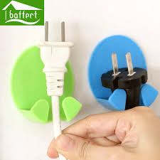 online get cheap wall adhesive wire holders aliexpress com 4pcs lot colorful wall hooks decorative self adhesive hooks power cord wire sticky holder hsb125