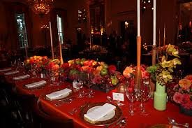 inaugural luncheon head table table settings decor state dinner for korea text worker