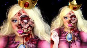 Unicorn Halloween Makeup by Zombie Princess Peach Halloween Makeup Special Fx Tutorial Youtube