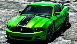 Green Mustang With Black Stripes 2013 Ford Mustang 302 Boss On Vossen Cv 7 Wheels Gtspirit