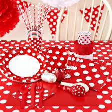 red and white dots party in a box wonderland party and birthday