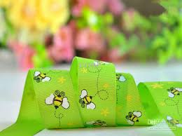 printed grosgrain ribbon buzzy bumble bees printed grosgrain ribbon 3 8inch 1inch