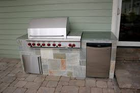 Small Outdoor Kitchen Design by Exterior Nice Small Outdoor Kitchen Barbeque With Granite Tiles