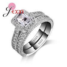 silver rings set images Buy jexxi 925 sterling silver ring sets with full jpg