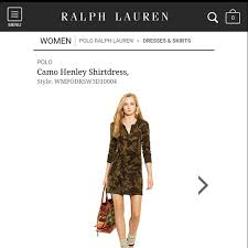 ralph lauren ralph lauren camo henley shirt dress from sam u0027s