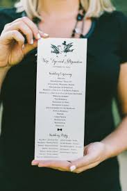 wedding ceremony program 8 wedding ceremony program ideas every last detail
