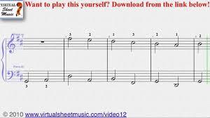 tutorial piano canon pachelbel s canon in d easy transcription piano sheet music