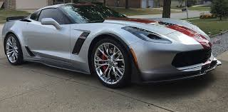 5th generation corvette c7 corvette stingray z06 painted front splitter stage 3