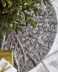 sudha pennathur white silver collection velvet 60 tree skirt