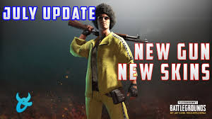 pubg new update pubg july update new gun new skins first person and more